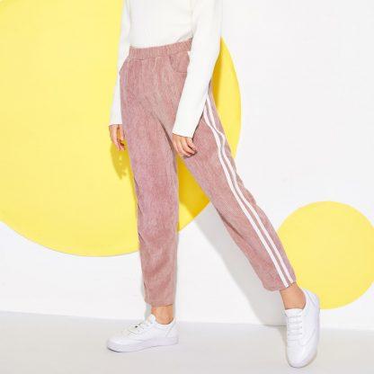 Girls Elastic Waist Corduroy Pants