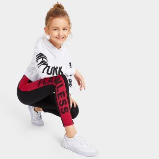 Girls Color-block Lettering Leggings