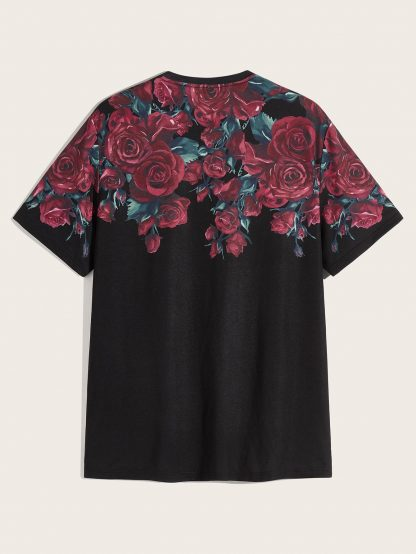 Men Floral Print Tunic Tee