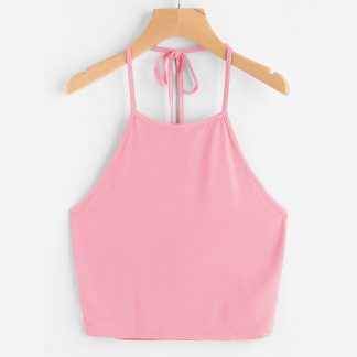 Tie Back Halter Top