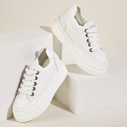 Lace-up Front Flatform Sneakers