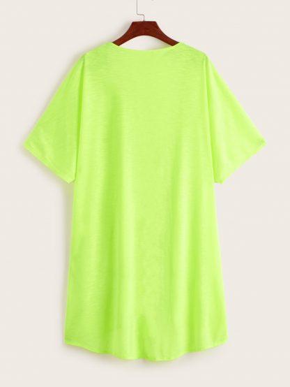 Neon Green Open Front Kimono