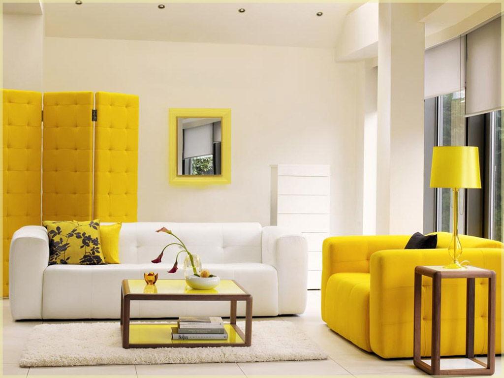 Nytt gult vardagsrum
