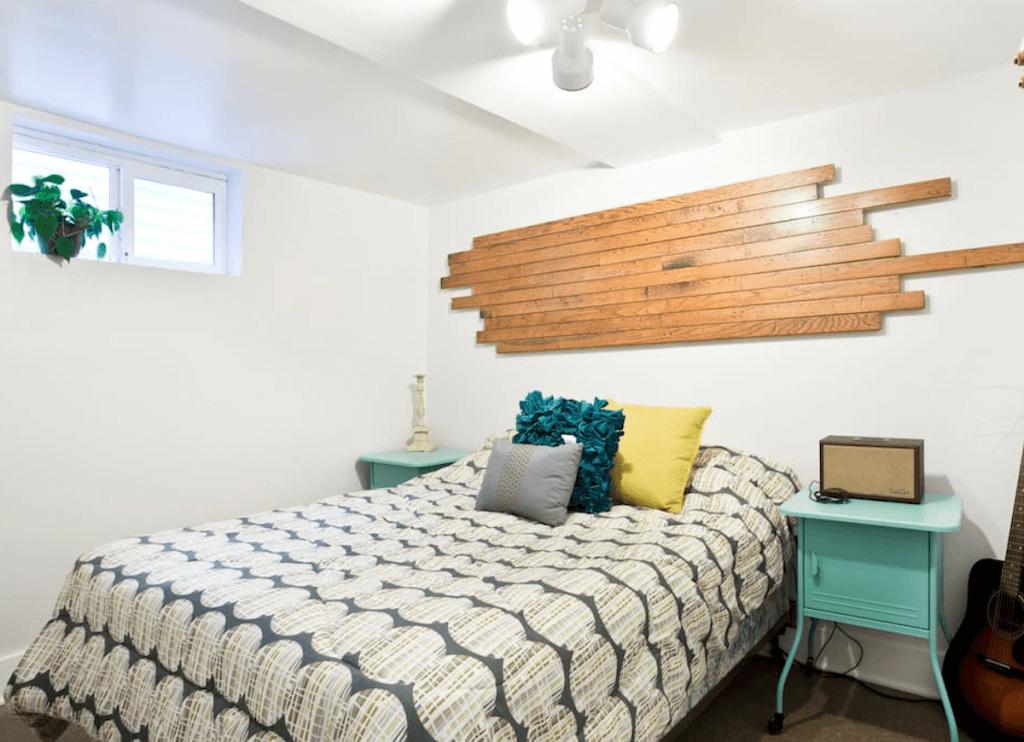 Cool källar sovrum