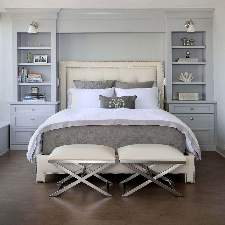 Lugnt minimalistiskt sovrum