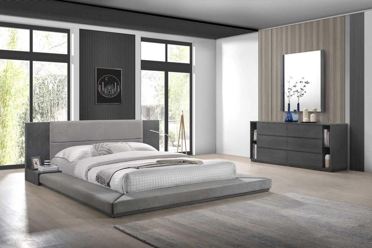 Minimalistiskt sovrum för män