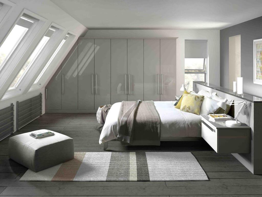 Kreativt sovrum skrivbord