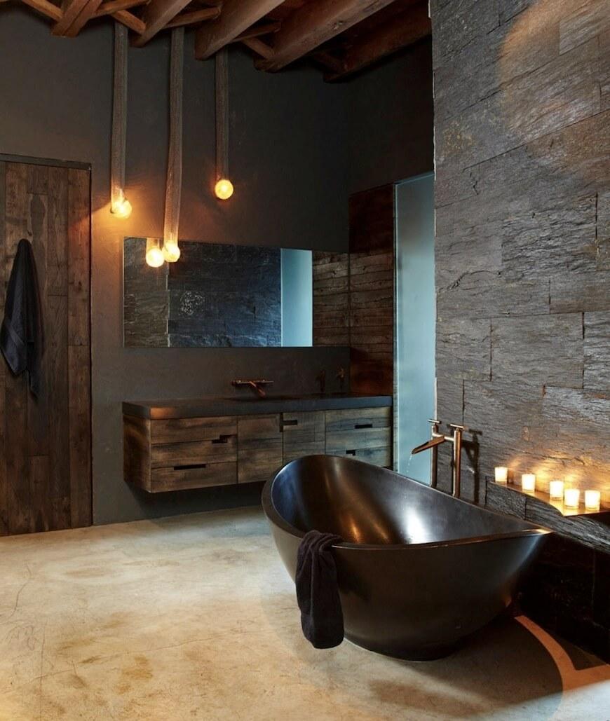 Tyst jordton badrum