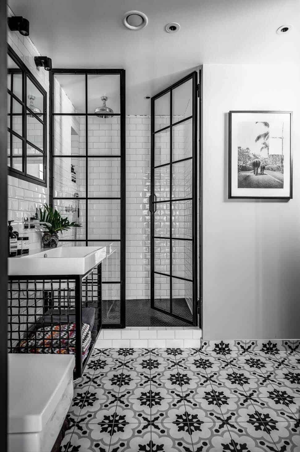 Charmigt elegant badrum