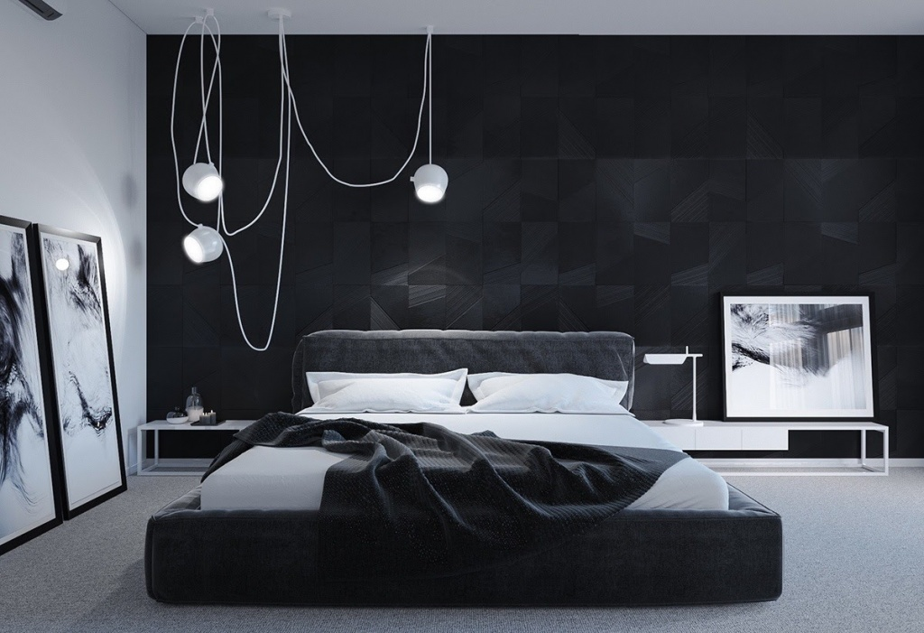 Coolt mörkt sovrum