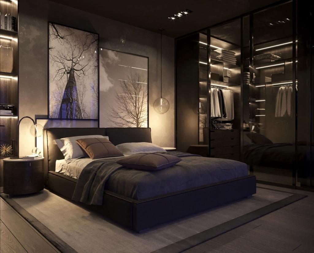 Dramatisk mörkt sovrum