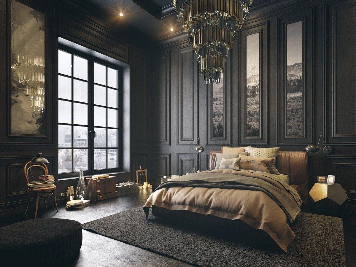 Tall-mörkt sovrum