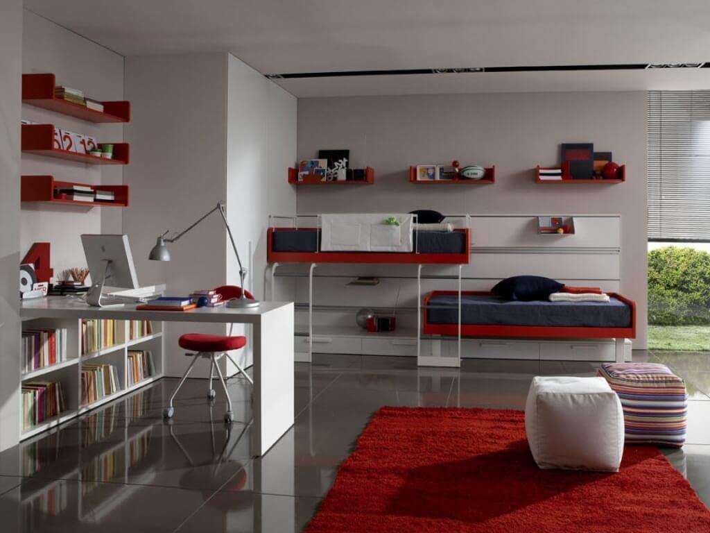Cool tonåring sovrum