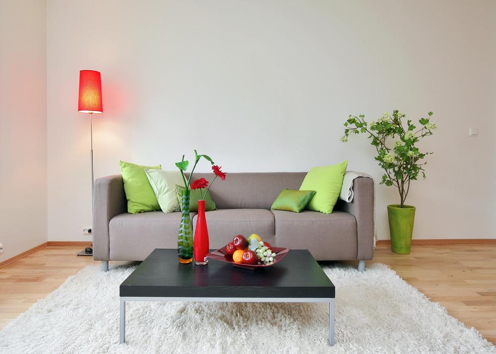 Friskt modernt vardagsrum