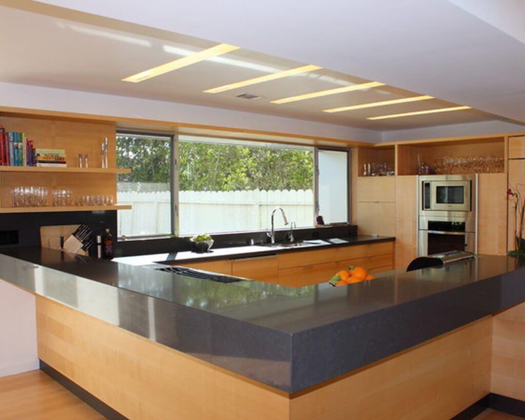 Minimalistisk LED-belysning i köket