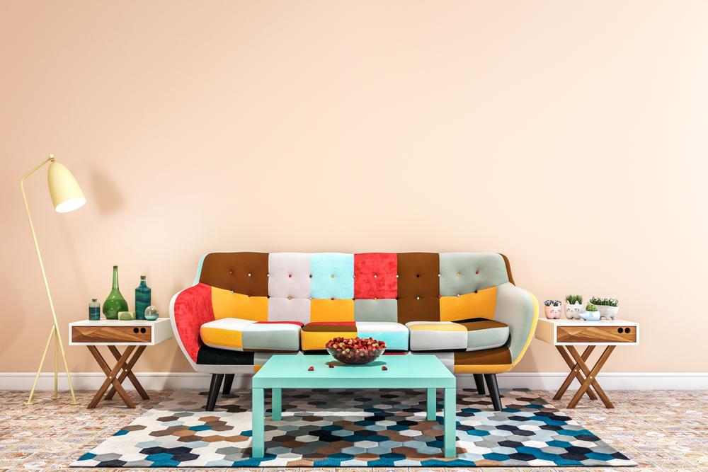 Enkelt, färgstarkt minirum