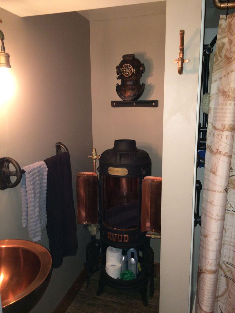 Fantastiskt steampunk badrum