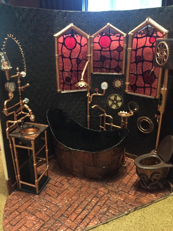 Konstigt steampunk badrum