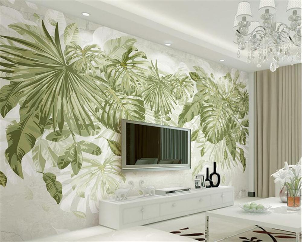Vardagsrum med grön tapet.  Källa: AliExpress.com