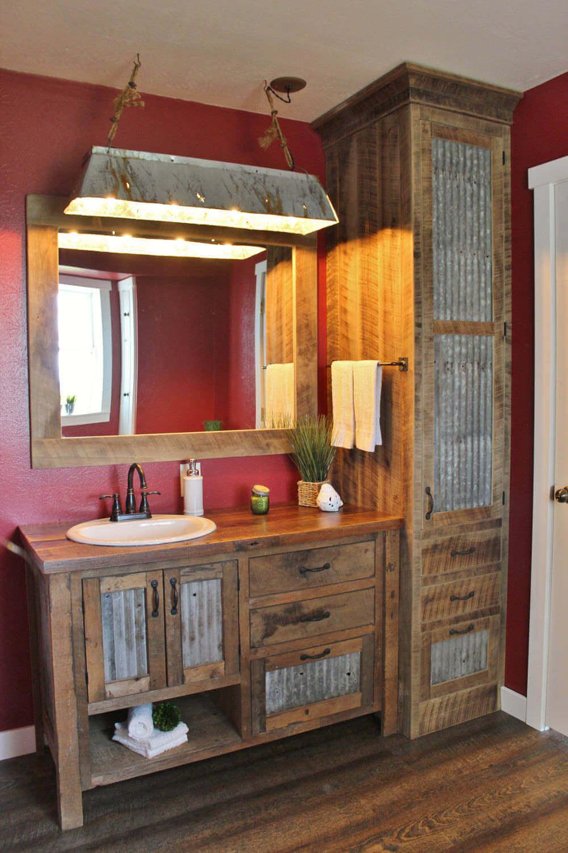 Återvunnen fåfänga för badrum