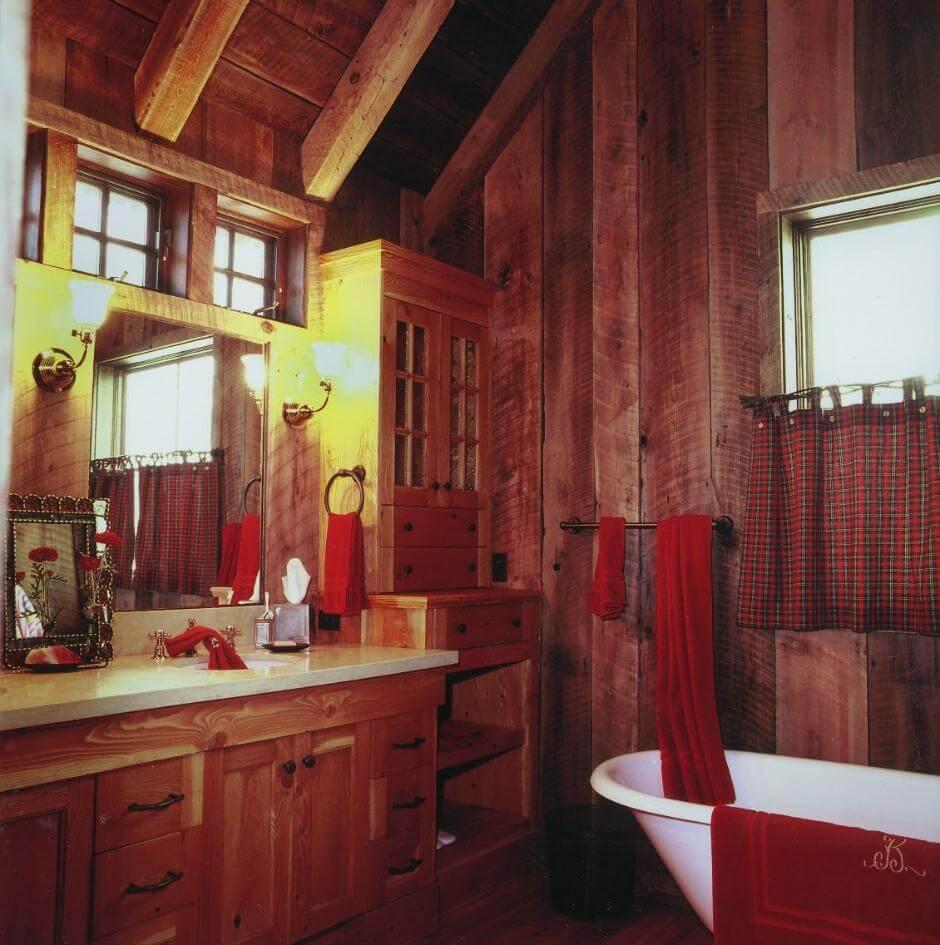 Anmärkningsvärt stuga badrum