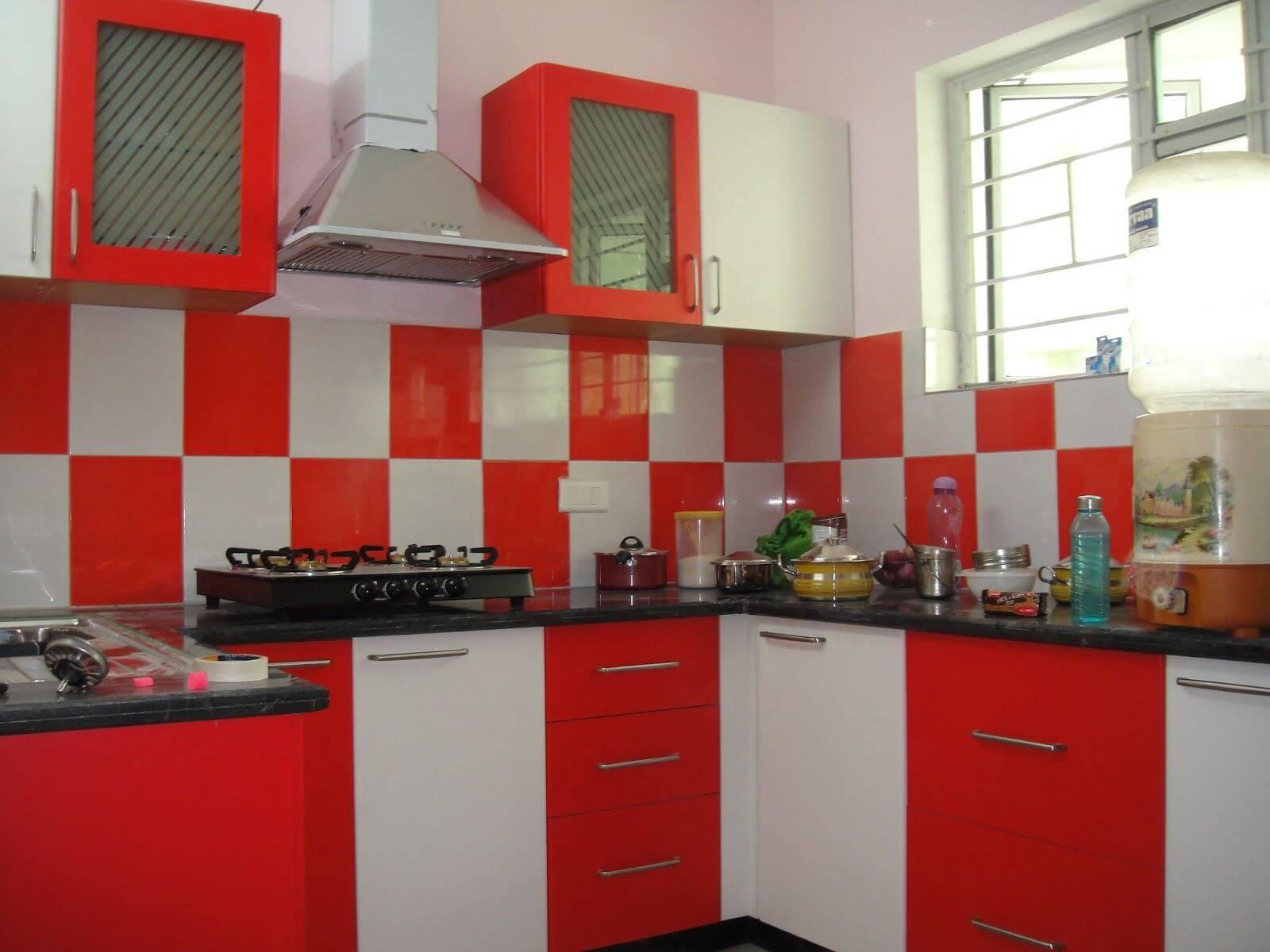 Populärt tvåfärgat köksskåp