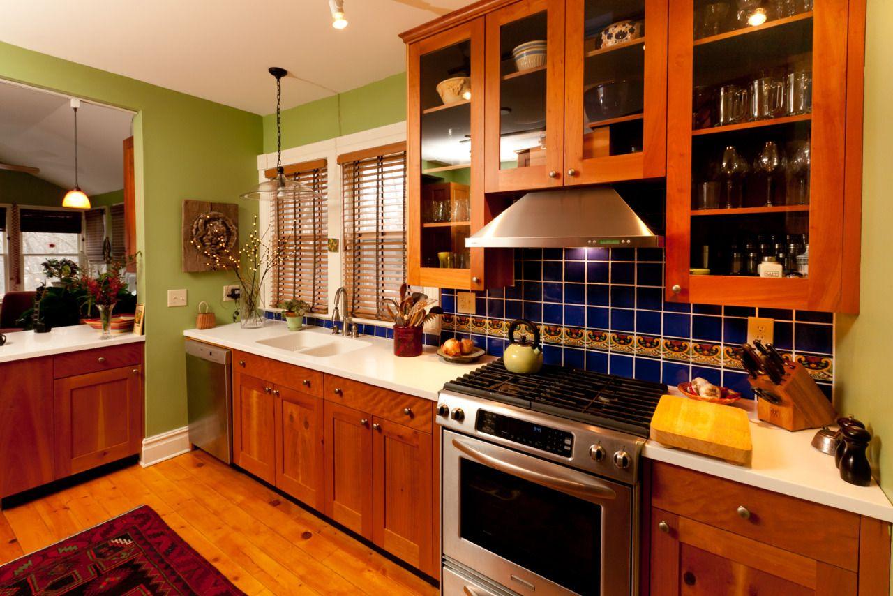 Transparent förvaring av köksskåp