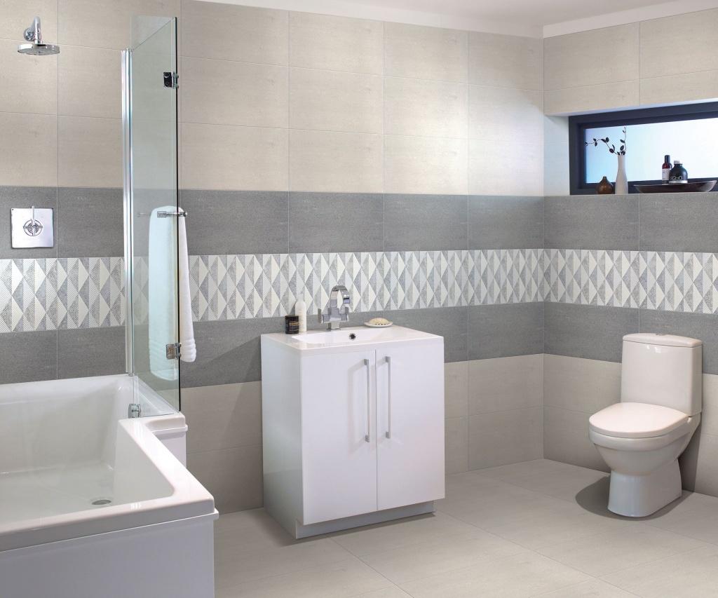 Imponerande badrumsvägg