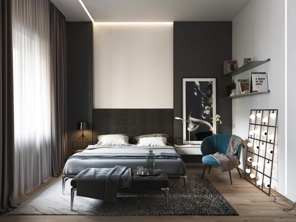 Tyst modernt sovrum