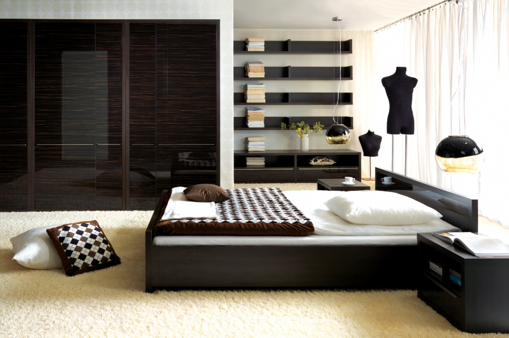 Fashionabla samtida sovrum