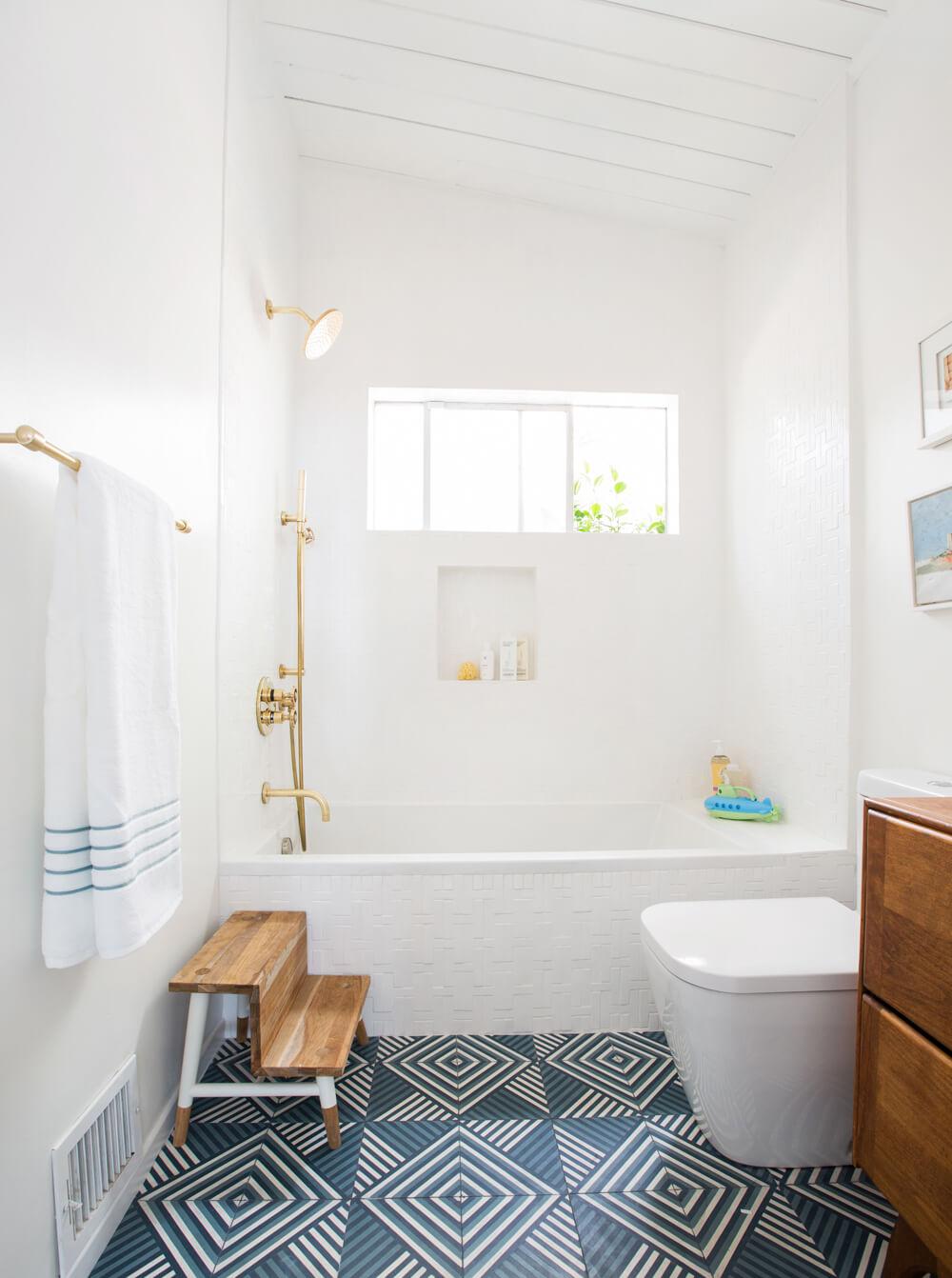 Mjukt Shiplap-badrum