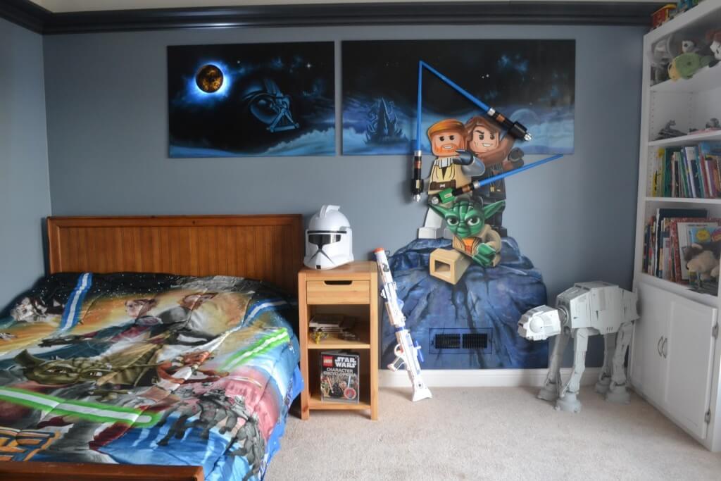 Trevligt sovrum med superhjältar