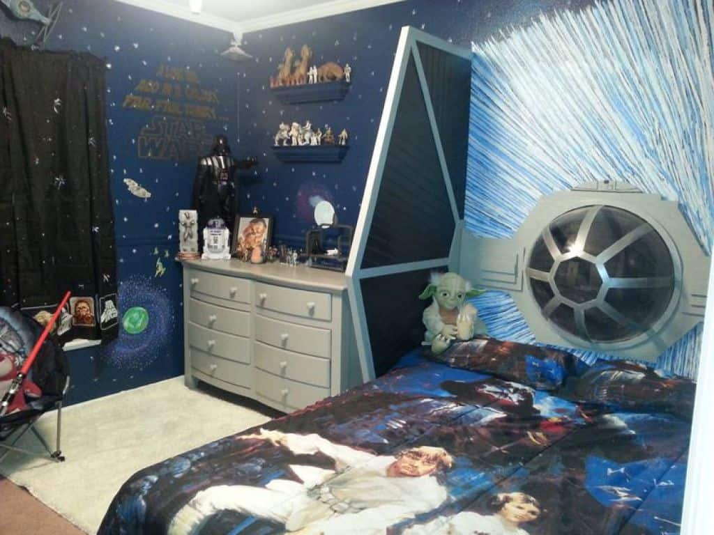 Underbart superhjälte sovrum