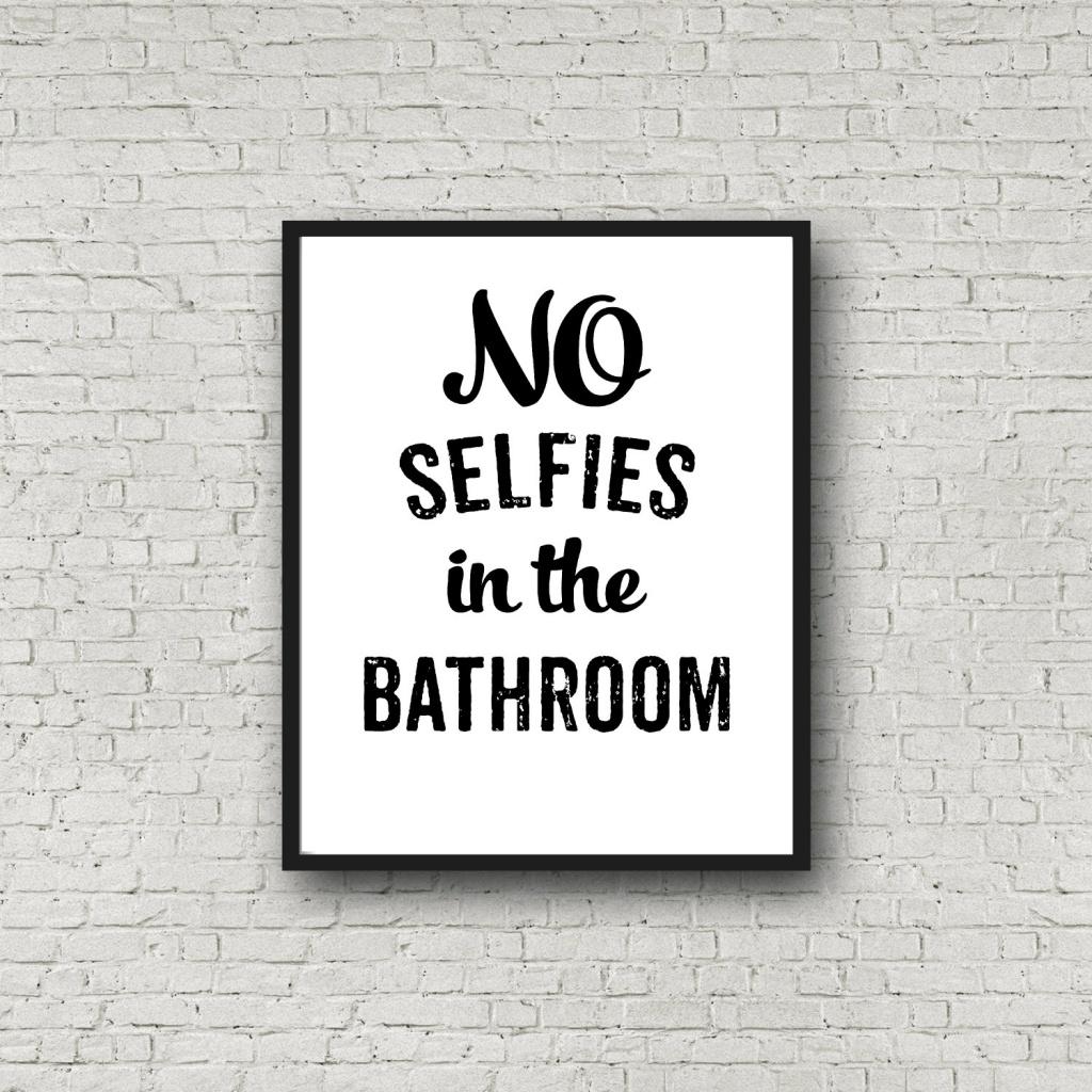 Satiriskt badrumsskylt