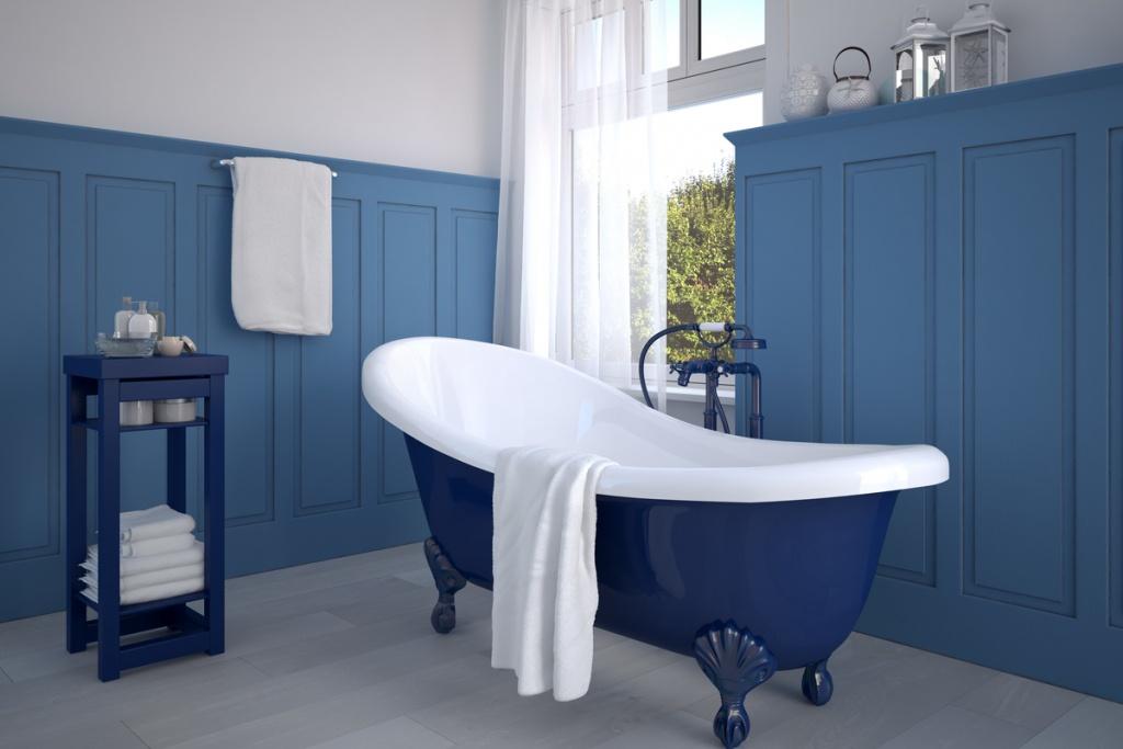 Attraktivt nautiskt badrum