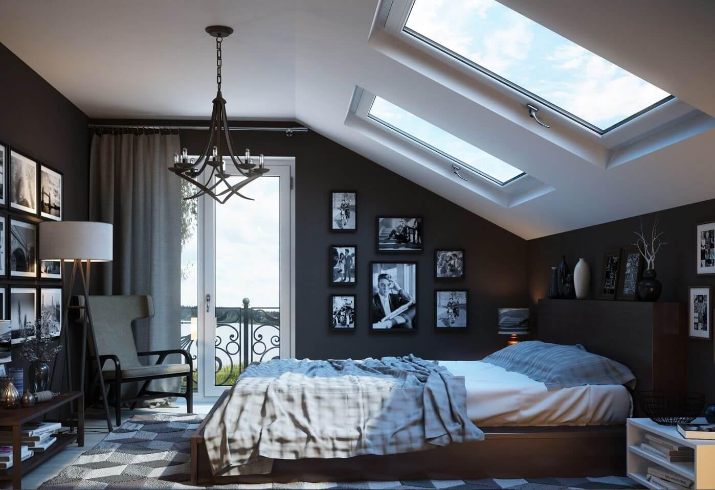 Elegant ungkarls sovrum
