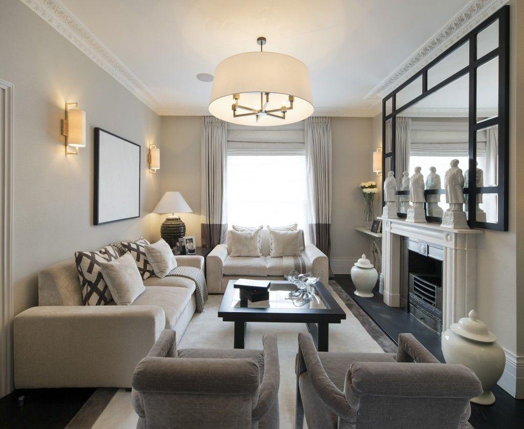 Vardagsrum med rätt möbelarrangemang.  Källa: Pinterest.com