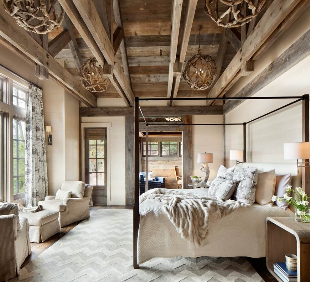 Glamour rustika sovrum