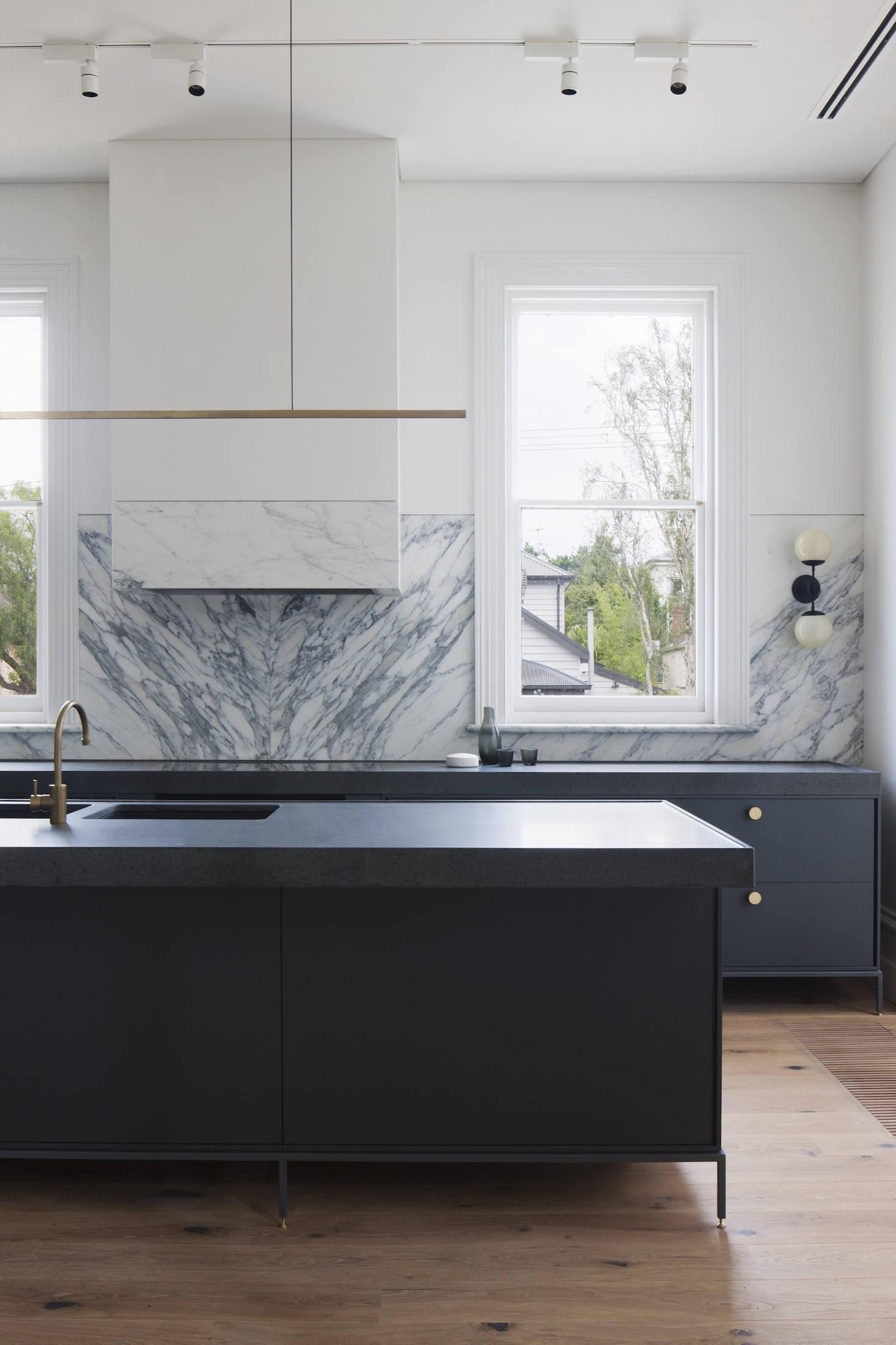 Cool marmor kök backsplash
