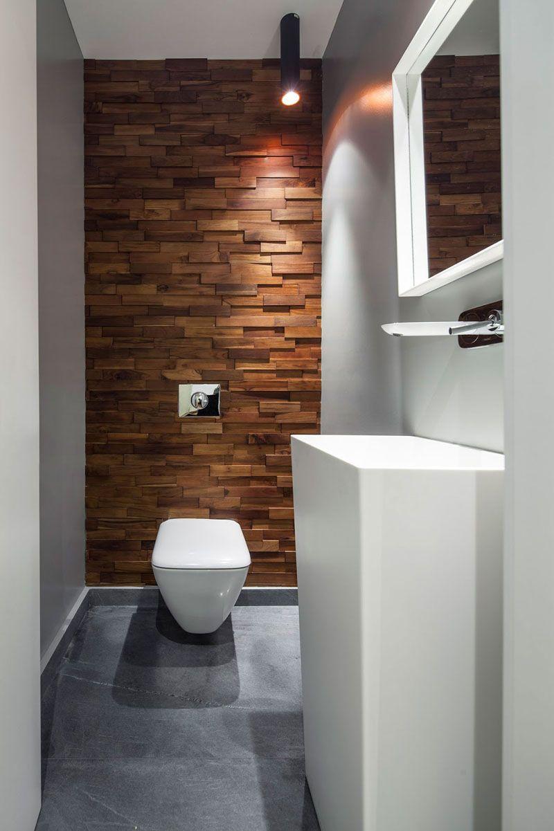 Effektivt smalt badrum