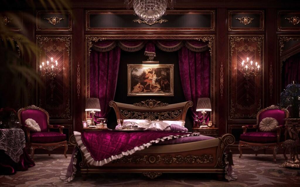 Trevligt gotiskt sovrum