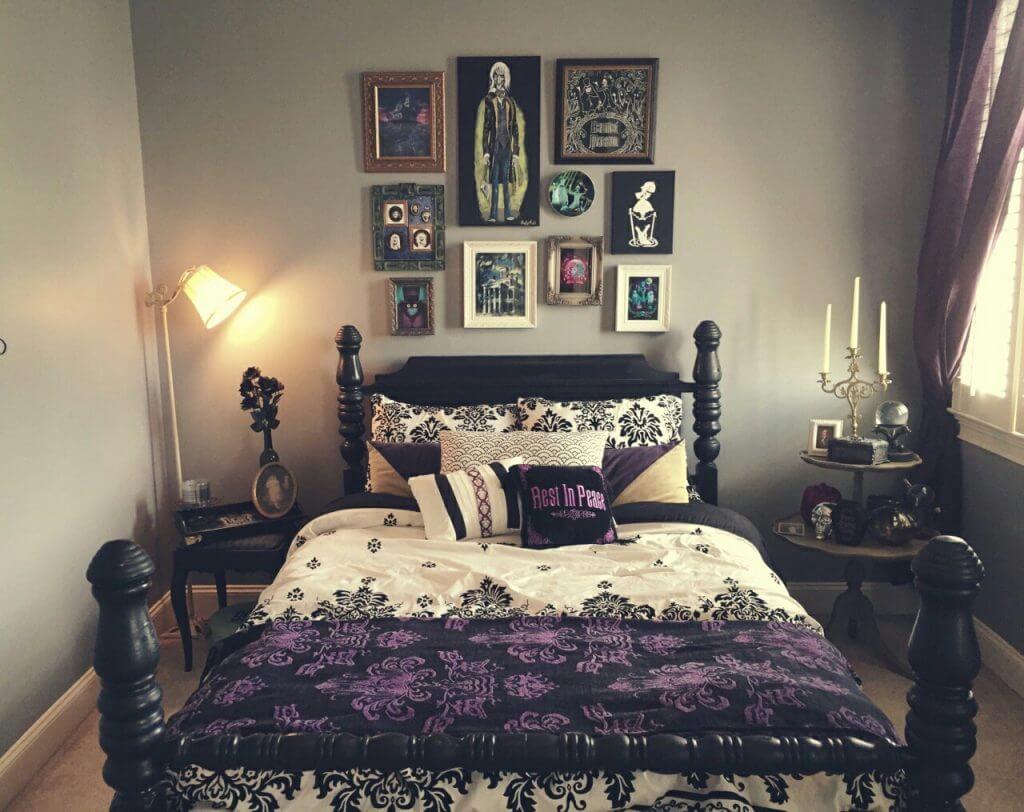 Modernt gotiskt sovrum