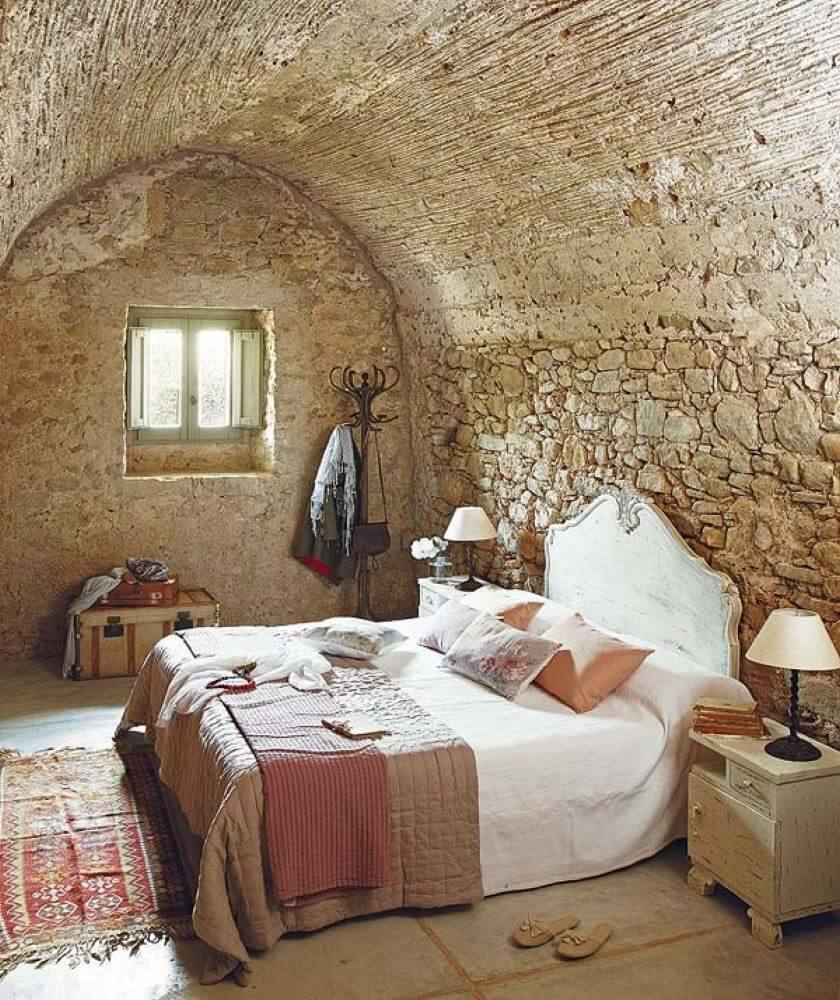 Autentiskt vintage sovrum