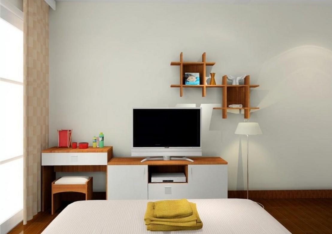 Underbart sovrum TV-stativ