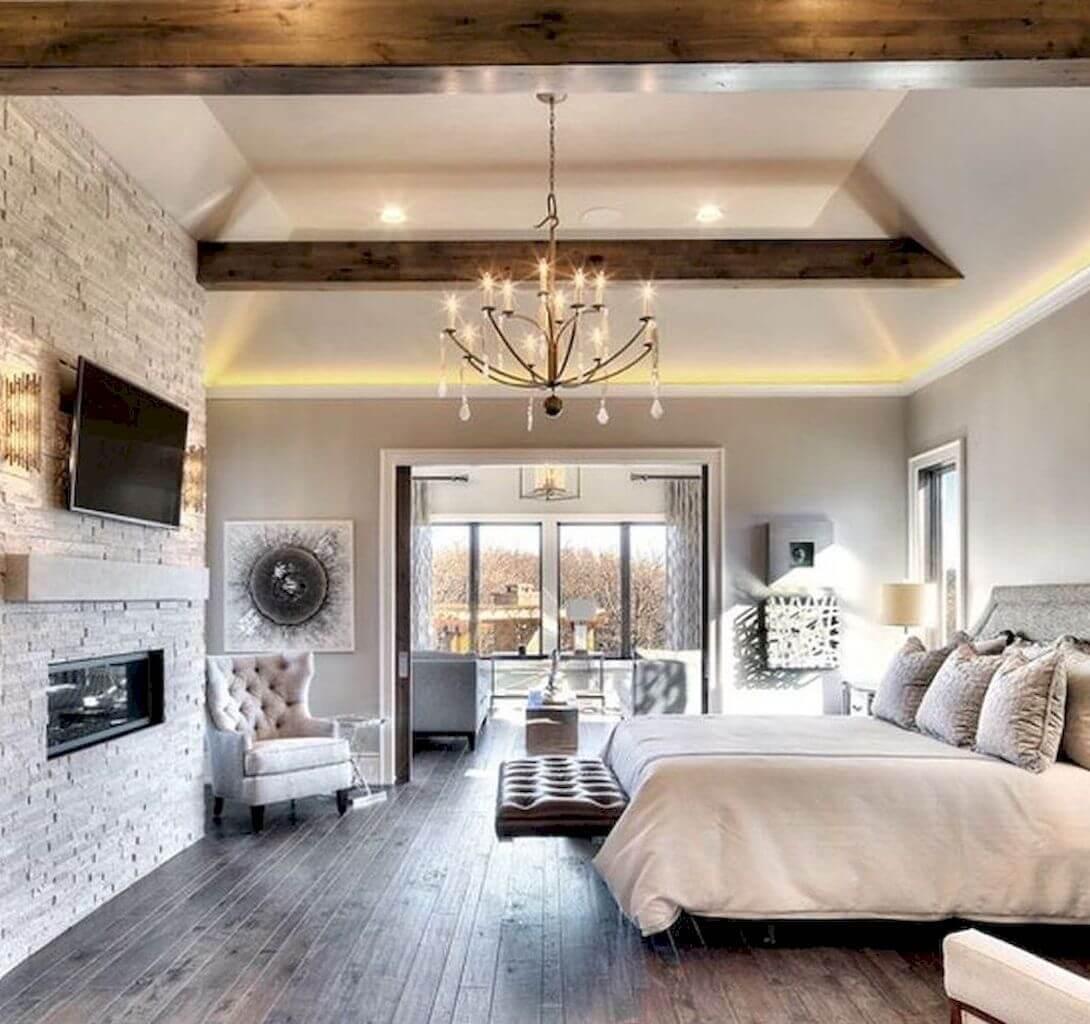 Modifierat vintage sovrum