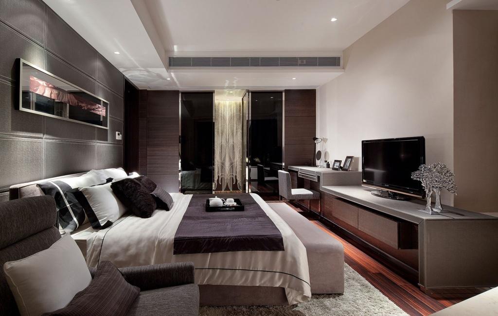 Minimalistisk TV-stativ för sovrum