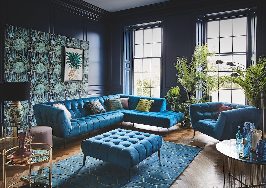 Mörkhet och glamour i det blågröna området