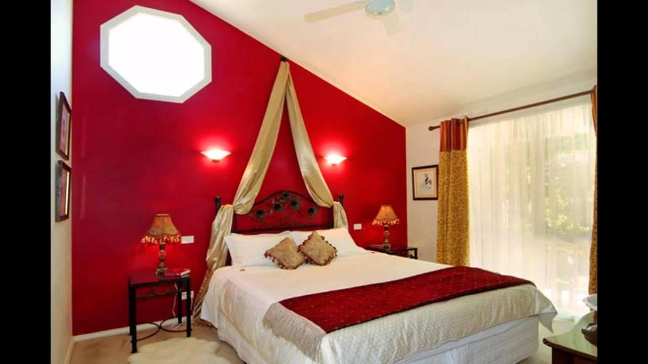 Förföriskt rött sovrum