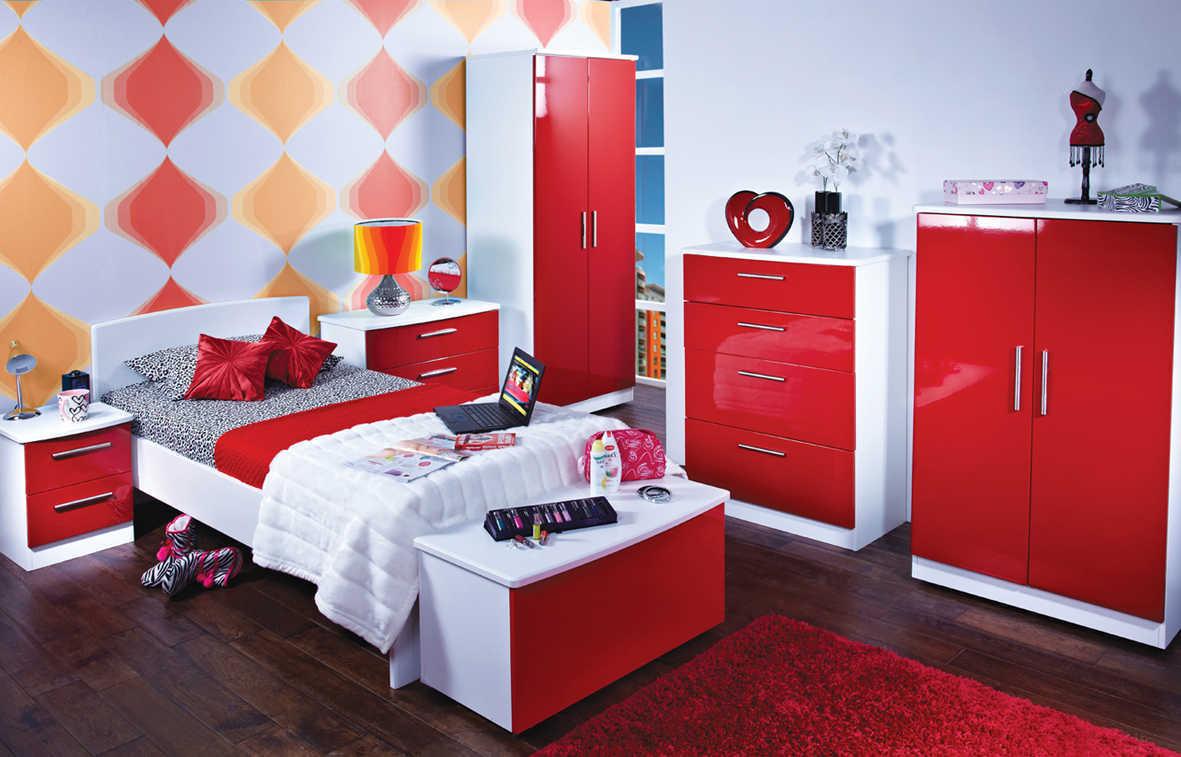 Färgat sovrumsskrivbord