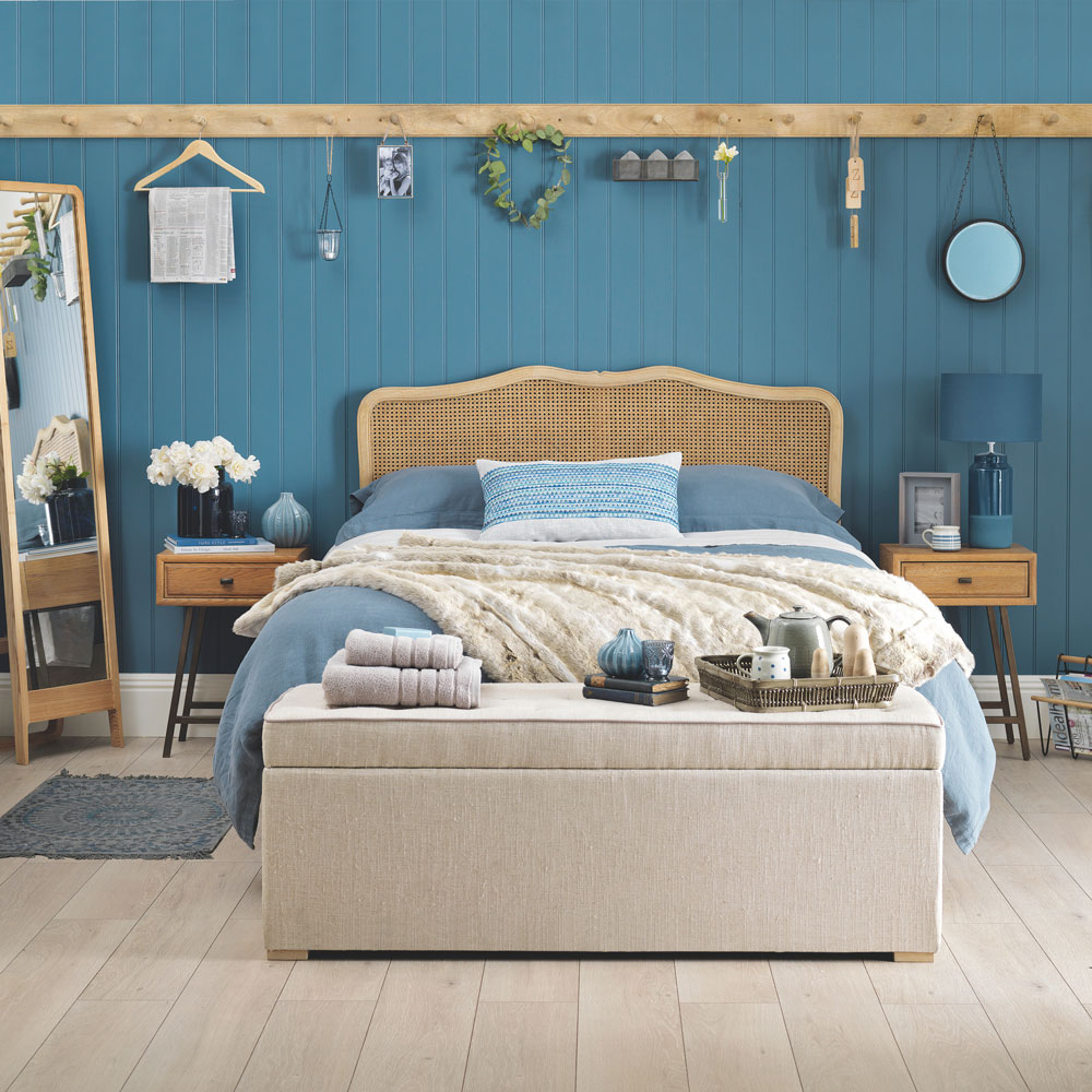 Blue Fixer Upper Bedroom